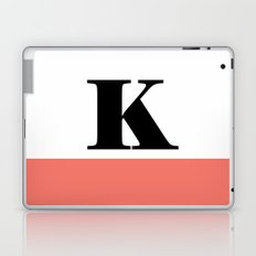Monogram Letter K-Pantone-Peach Echo Laptop & iPad Skin