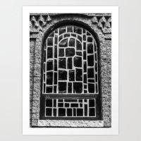 B&w Window Art Print