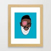 Ol' Saint Slick Rick Framed Art Print