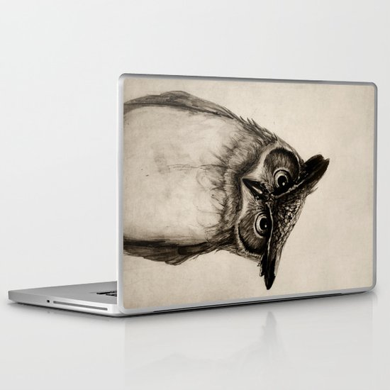 Owl Sketch Laptop & iPad Skin