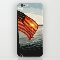 Patriot's Sunset iPhone & iPod Skin
