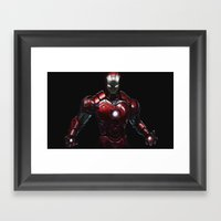 Ipad Iron Man  Framed Art Print