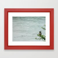 Duck Butt Framed Art Print