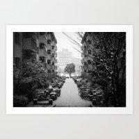 Snowy Day, Kyoto Art Print
