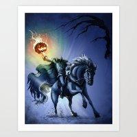 The Horseman Cometh Art Print