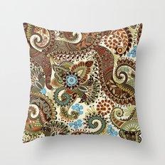 Ornamental Indian Boho Pattern Throw Pillow