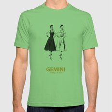 Gemini Mens Fitted Tee Grass SMALL