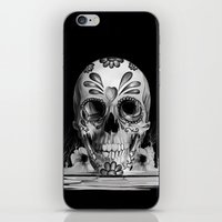 Pulled sugar, day of the dead skull iPhone & iPod Skin