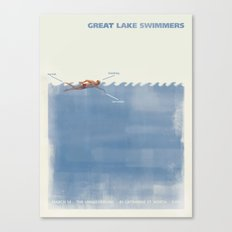 Great Lake Swimmers Gig Poster Canvas Print