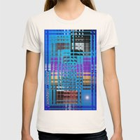 Photonic computers. Womens Fitted Tee Natural SMALL