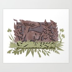 Sleeping Mouse Art Print