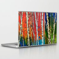 Birch Tree Stitch Laptop & iPad Skin
