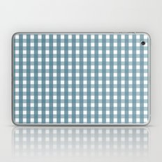 Blue And White Gingham  Laptop & iPad Skin