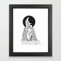 luna llorona Framed Art Print