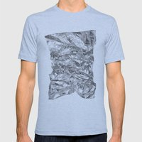 Silver Mens Fitted Tee Athletic Blue SMALL