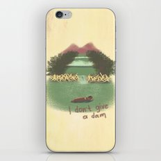 I Don't Give A Dam iPhone & iPod Skin