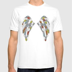 wings SMALL Mens Fitted Tee White