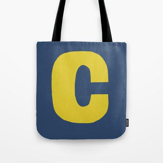 Yellow C Tote Bag