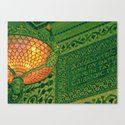Chicago Cultural Center ~ architecture tiffany lamp detail Canvas Print