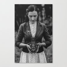 Vintage Girl with Rolleicord Canvas Print