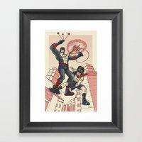 Bola And Kid Sling Framed Art Print