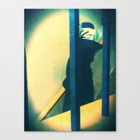 Canvas Print featuring shy by Doc Diventia