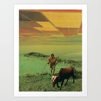 Shepherd Of The Plains Art Print
