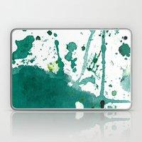 emerald green splash Laptop & iPad Skin