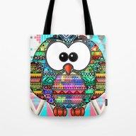 Owl Aztec  Tote Bag