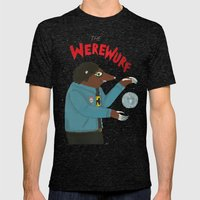 The Werewurf Mens Fitted Tee Tri-Black SMALL
