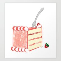 Creative Strawberry Shortcake Art Print