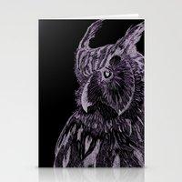 Inverted Horned Owl Stationery Cards