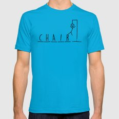 hangman Mens Fitted Tee Teal SMALL