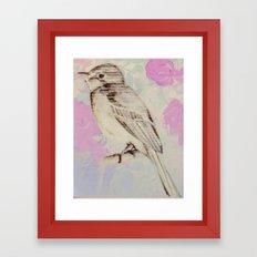 Bye bye birdie Framed Art Print