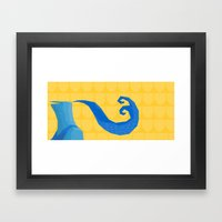 The Blue Knight  Framed Art Print