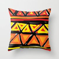 Hot Triangles Throw Pillow