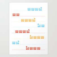The Essential Patterns of Childhood - Train Art Print