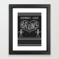 Zombie Knitwear Framed Art Print