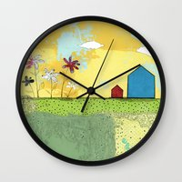 The Blue House Wall Clock