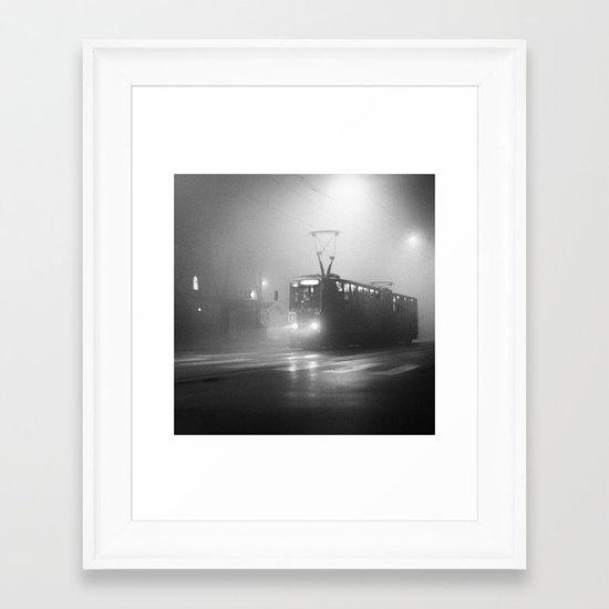 TRAM NUMBER 13 Framed Art Print