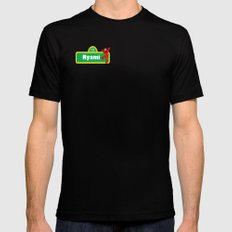 smsrya SMALL Mens Fitted Tee Black