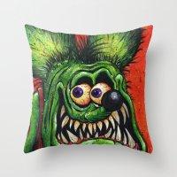 Rat Fink! Throw Pillow