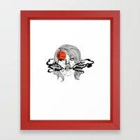 O-Face Framed Art Print
