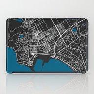 Durres City Map Black Co… iPad Case