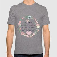 Beauty of the Heart Mens Fitted Tee Tri-Grey SMALL