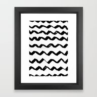 Ink Chevron Framed Art Print