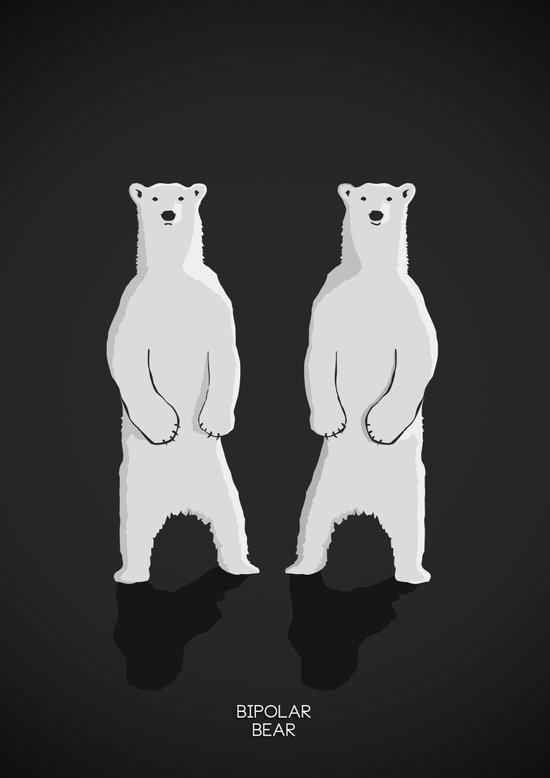 BIPOLAR BEAR Art Print
