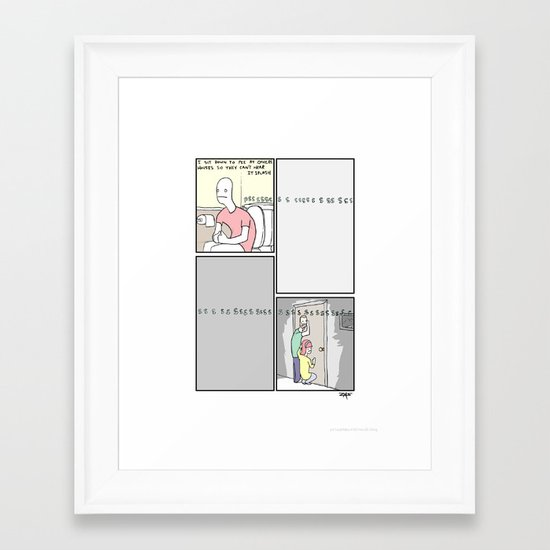 Pee time! Framed Art Print