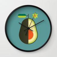 Fruit: Avocado Wall Clock