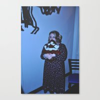 The Girl with the Doll Canvas Print